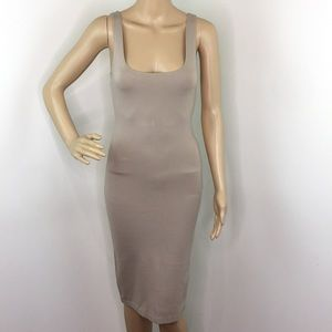 Forever 21 Taupe Bodycon Dress